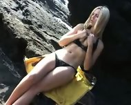 Eva - Playing at the beach - scene 2