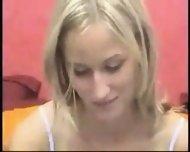 Cutie girl in front of webcam - scene 8