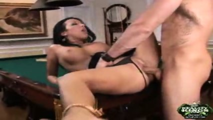 Maya fucks on pool table - scene 1