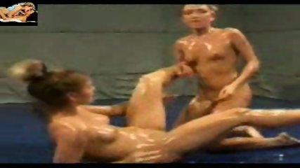 Lesbian Oil Catfight - scene 8