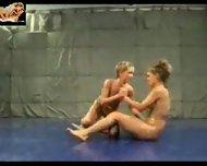 Lesbian Oil Catfight - scene 6