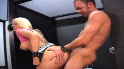 Blond girl sucks and fucks in bathroom - scene 6