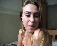 Holland girl stripping and masturbating - scene 1