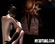Sexy 3d Babe Gets Fucked Outdoors By A Monster - scene 7