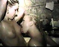Lesbian Sex - Bath Tub - scene 1