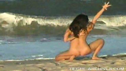 Nude Beach Yoga by Anahi Flores - scene 1