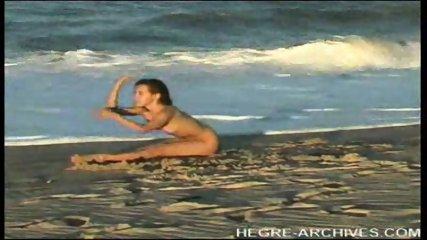 Nude Beach Yoga by Anahi Flores - scene 4