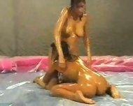 Oil Wrestling Match - scene 2