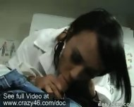 Doctor takes temperature of dick with her mouth