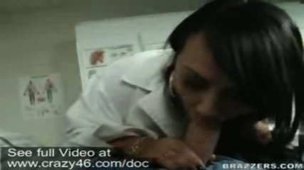 Doctor takes temperature of dick with her mouth - scene 6