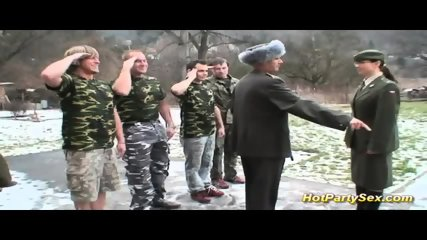 Military Lady Gets Soldiers Cum - scene 3