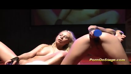 Extreme Hot Lesbian Babes On Stage - scene 12