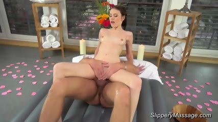 Slippery Nuru Massage With Skinny Teen - scene 9