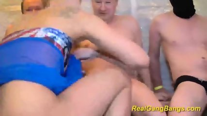 Real Gangbang With Skinny Teen - scene 1