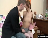 Check out this flirtatious redhead teen schoolgirl who gets turned on when her