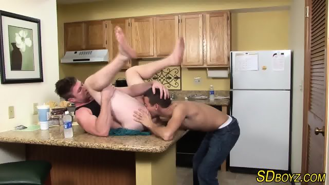 Muscled gays ass rammed