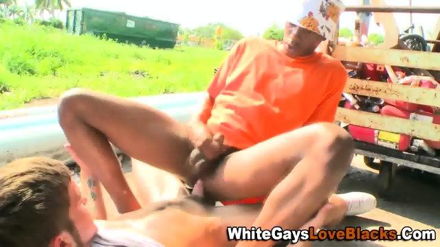 Ebony rides whiteys rod