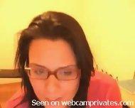 Cam girl in glasses doing a blowjob - scene 1