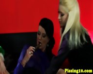 Euro lesbian pissing babes have a threeway