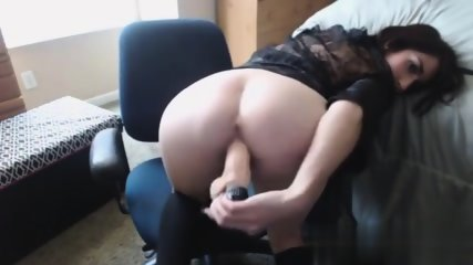 Busty girl fucks herself - scene 8