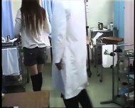 Girl climaxes during gynecological Examination - scene 5