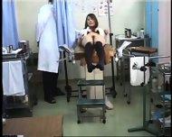 Girl climaxes during gynecological Examination - scene 6