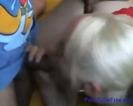 Blonde GF Sexed on Couch - scene 1