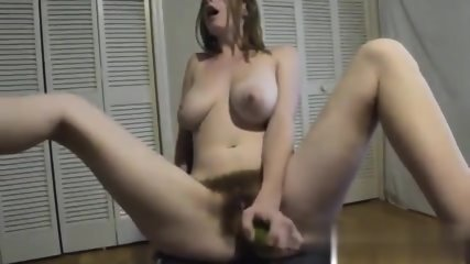 Cucumber In Hairy Vagina - scene 5