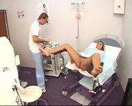 Gyno Clinic- Examination of a Cech girl- CAROL - scene 9