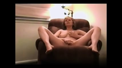 Blonde Mom On Armchair