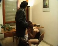 Hairy girl does anal and receives facial - scene 2