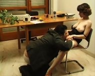 Hairy girl does anal and receives facial - scene 4