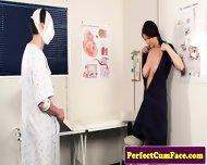 Nurse begs for facial