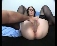 fuck with very big dildo so good