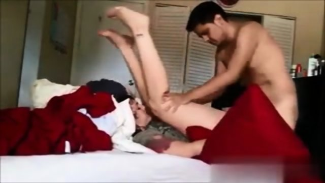 Amateur nerdy getting fucked
