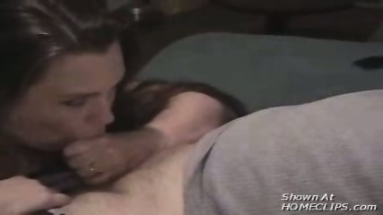 Brunette babe sucks his small cock - scene 10
