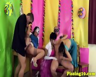 Bizarre pissing party groupsex from europe
