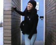 pissed her pants in public - scene 1