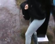 pissed her pants in public - scene 10