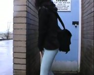 pissed her pants in public - scene 2
