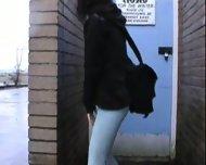 pissed her pants in public - scene 2