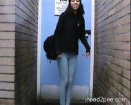 pissed her pants in public - scene 3