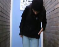 pissed her pants in public - scene 4