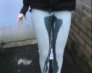 pissed her pants in public - scene 6