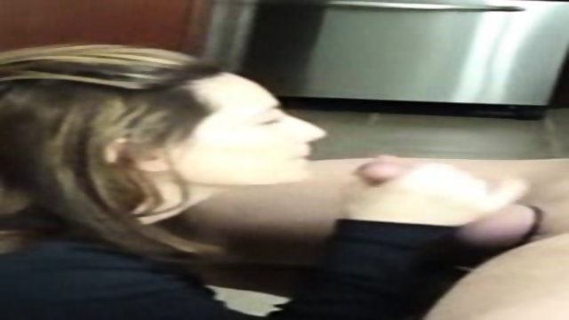 Blowjob In The Kitchen Swallowing