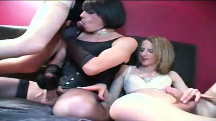 Three amateur TGirls fucking! - scene 12