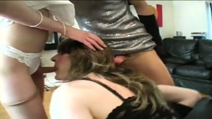 Trans: Three horny crossdressers fuck each other! - scene 8