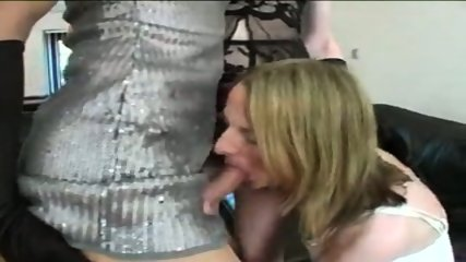 Trans: Three horny crossdressers fuck each other! - scene 9