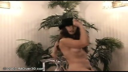 brunette milf stripping - scene 12
