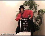 brunette milf stripping - scene 3